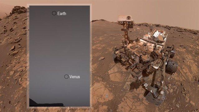 El rover Curiosity localiza la Tierra y Venus mientras mira al cielo