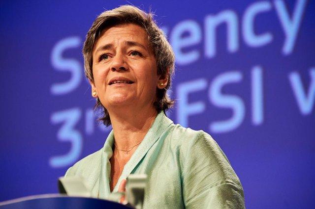La vicepresidenta de Competència de la Comissió Europea, Margrethe Vestager