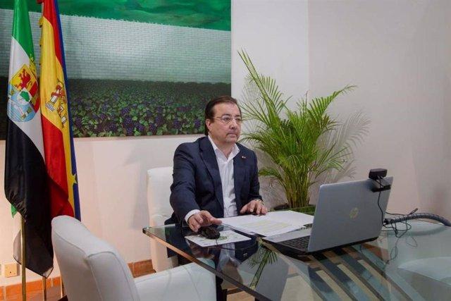 Vara durante su participación en un encuentro virtual sobre el hidrógeno como vector energético de desarrollo socioeconómico