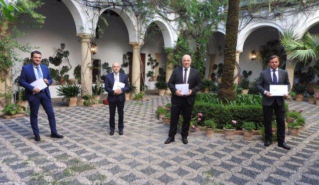 (Desde Izda.) Bellido, Barrena, Ruiz Y Repullo En La Presentación Del Informe.