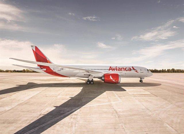 Un avión de la aerolínea Avianca