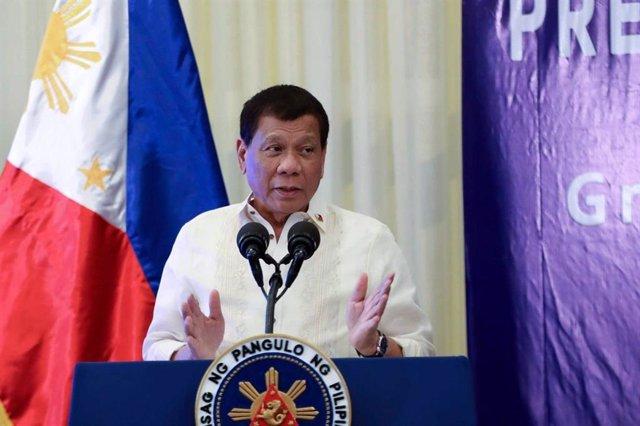 Coronavirus.- Duterte avisa a los filipinos de que no pueden culpar al Gobierno