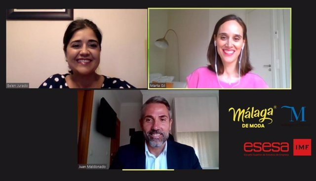 Belén Jurado, Esesa; Marta Gil, gerente comercial de Amazon; y Juan Carlos Maldonado, vicepresidente primero de la Diputación