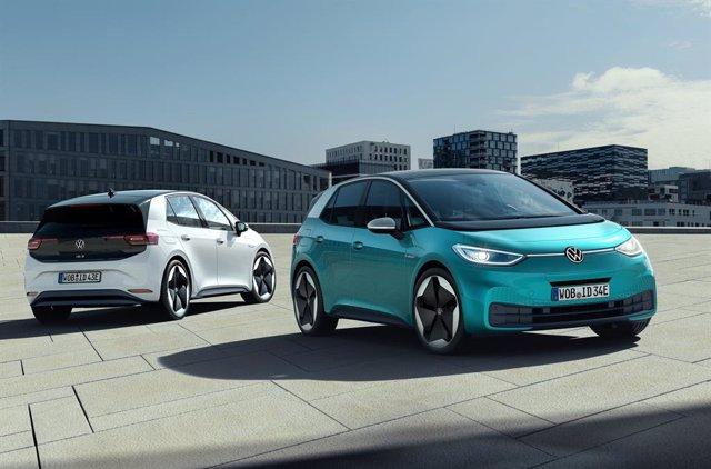 Imagen del ID.3 eléctrico de Volkswagen.