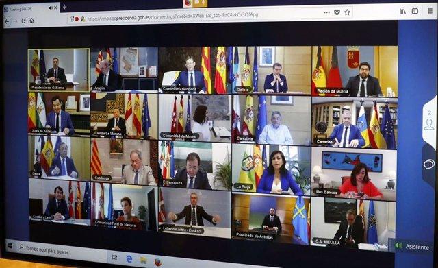 Conferencia de presidentes con Pedro Sánchez.