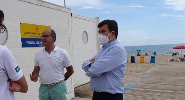 Visita de Cs a las playas de València