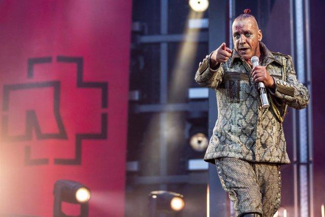 22 June 2019, Berlin: Till Lindemann, front singer of German band Rammstein