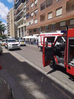 Sucesos.- Un varón de 79 años fallece en el incendio de su vivienda en Badajoz