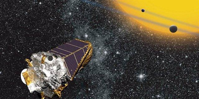Ilustración artística del telescopio Kepler