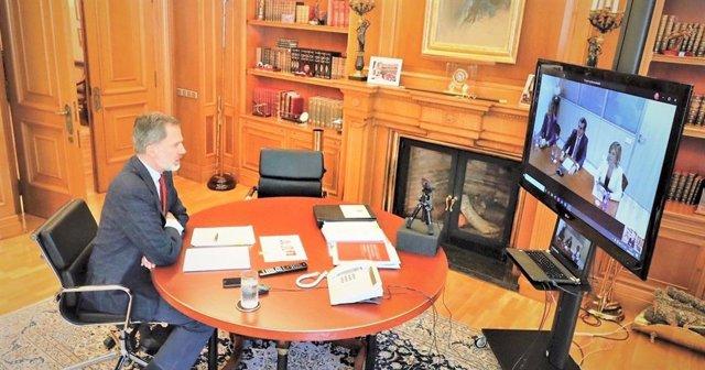El IDIS expone al rey Felipe VI la contribución del sector sanitario privado en la pandemia
