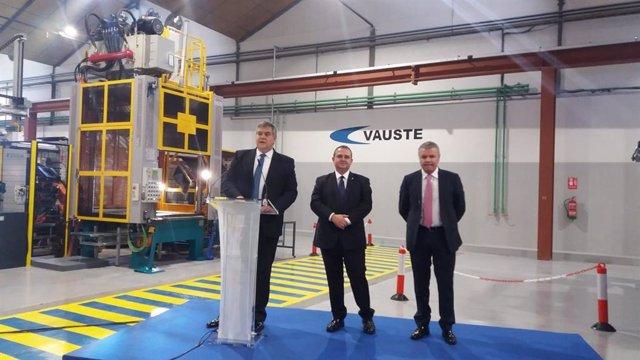 Presentación de las nuevas instalaciones de Vauste Spain en Gijón, en 2018