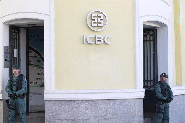 Operación contra el banco chino ICBC en Madrid en una operación contra el blanqueo