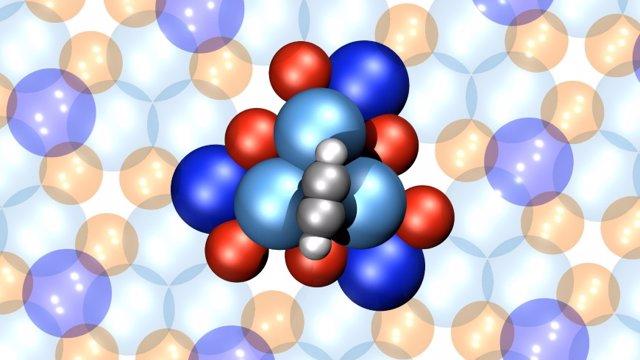 Aspecto del motor molecular de 16 átomos