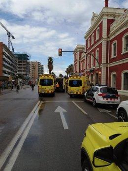 Dotaciones de emergencias en Mataró