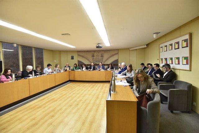 El consejero de Educación, Luis Cacho, ha comparecido ante el Parlamento para desgranar las líneas del presupuesto que manejará su consejería