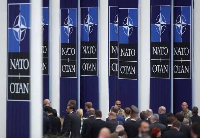 Imatge d'arxiu d'una cimera de l'OTAN a Brussel·les