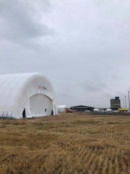 Hangar Hinchable Buildair En El Aeropuerto Lleida-Alguaire.