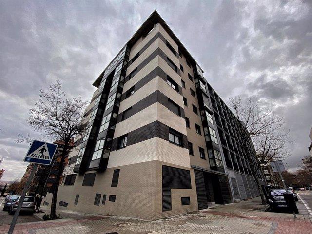 Un edifici d'habitatges de Madrid