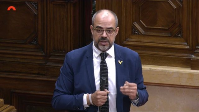 El conseller d'Interior de la Generalitat, Miquel Buch, en el ple del Parlament del 17 de juny.