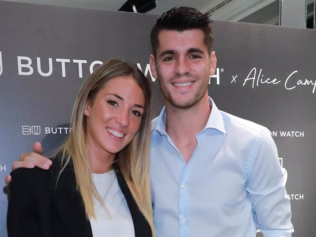 Alice Campello y Álvaro Morata, una pareja de lo más unida