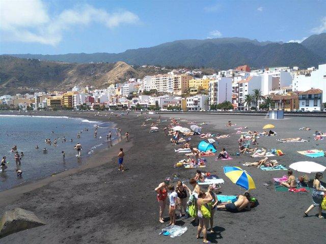 Gente en la playa