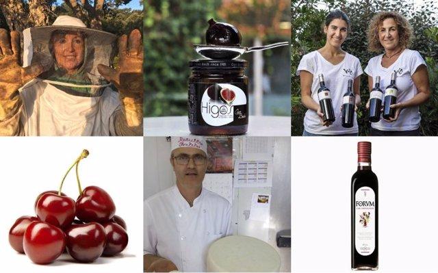 Productores de 'Gastronomía Sostenible', el proyecto de Celler de Can Roca y BBVA para apoyar al pequeño productor y promover la cocina saludable