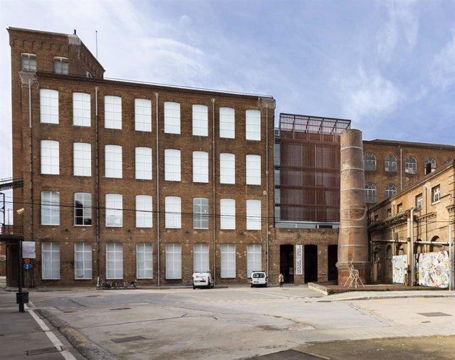 Façana de Fabra i Coats: Centri d?Art Contemporani de Barcelona i Fàbrica de Creació, a Barcelona, que ha reobert les seves portes aquest 9 de juny després del confinament per coronavirus
