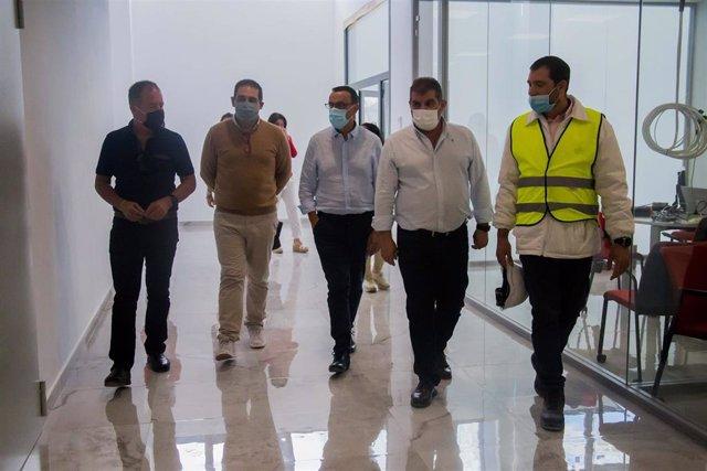Caraballo visita una nueva planta de El Pozo.