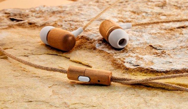 Auriculares Earphones Eco Cherry Wood