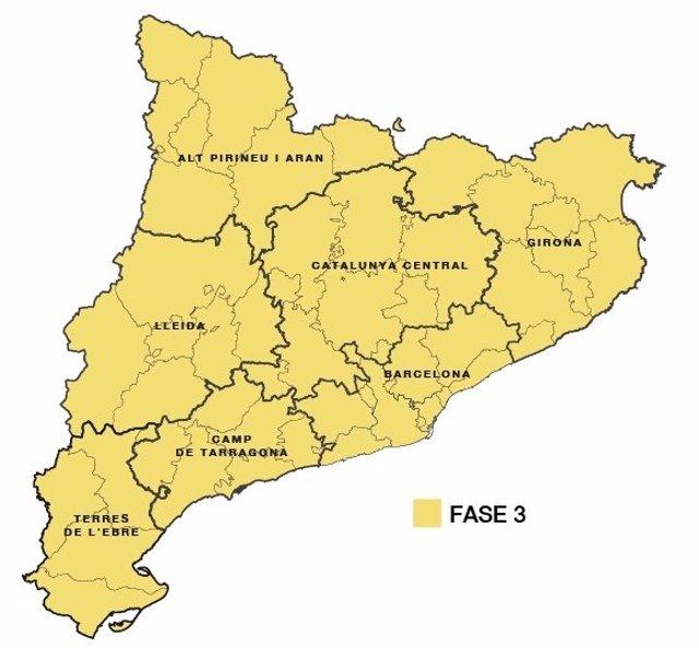 Barcelona i Lleida avançaran dijous a la fase 3 de desescalada