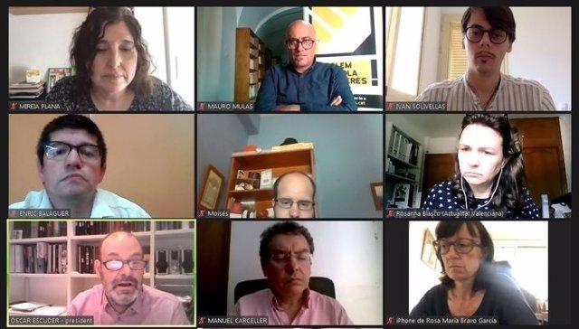Conferència de premsa telemàtica de Plataforma per la Llengua per l'InformeCAT 2020