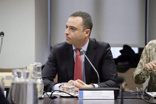 El concejal socialista en el Ayuntamiento de Madrid Alfredo González
