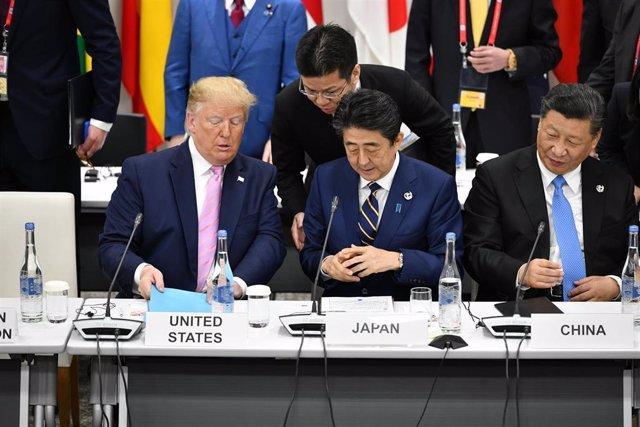 El presidente de Estados Unidos, Donald Trump, y el presidente de China, Xi Jinping, en la Cumbre del G-20 en Osaka.