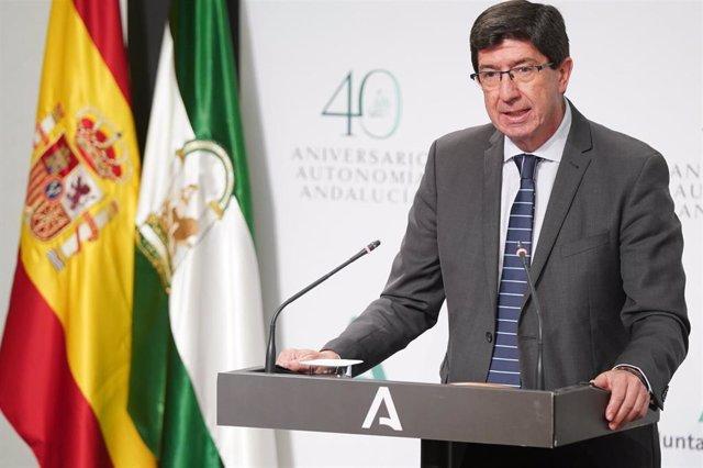 El vicepresidente de la Junta de Andalucía, Juan Marín, en una foto de archivo.