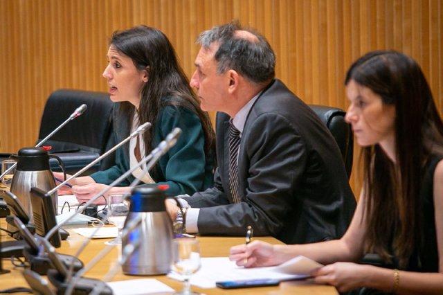 La ministra de Igualdad, Irene Montero, interviene en la Comisión para la Reconstrucción Social y Económica, que informará en relación con el objeto de la citada comisión. En Madrid, (España), a 18 de junio de 2020.