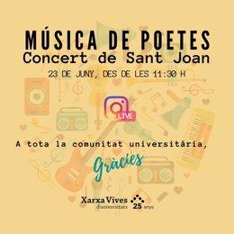 El concert està organitzat per la Xarxa Vives formada, entre altres centres, per la Universitat Pompeu Fabra de Barcelona, l'Universitat de València, l'Universitat de Vic o l'Universitat Jaume I de Castelló.