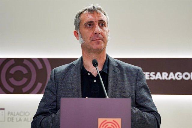 El portavoz de Agricultura, Ganadería y Medio Ambiente del grupo parlamentario de Ciudadanos en las Cortes de Aragón, Ramiro Domínguez.