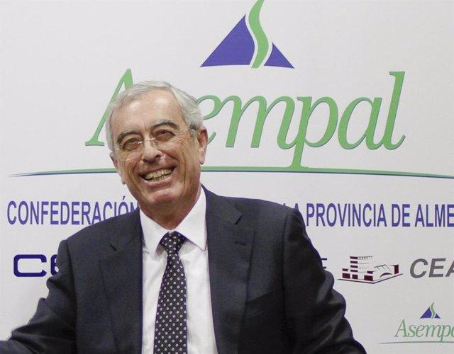 El presidente de la confederación empresarial de la provincia de Almería (Asempal), José Cano