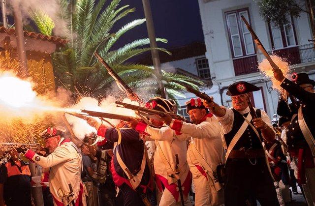 Recreación de la 'Gesta del 25 de Julio' en Santa Cruz de Tenerife