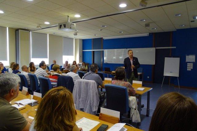 Una sesión del Programa de Desarrollo de Directivos de Salud, en la EASP, en imagen de archivo
