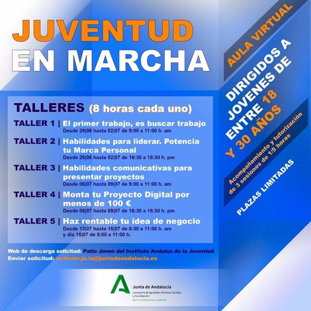 Cartel de la acción formativa 'Juventud en marcha'