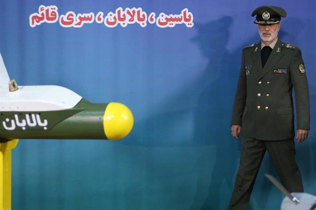 """Irán.- La Armada de Irán dispara un misil de crucero de """"nueva generación"""" en un"""