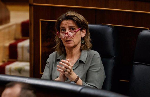 La ministra de Transición Ecológica y vicepresidenta cuarta del Gobierno, Teresa Ribera