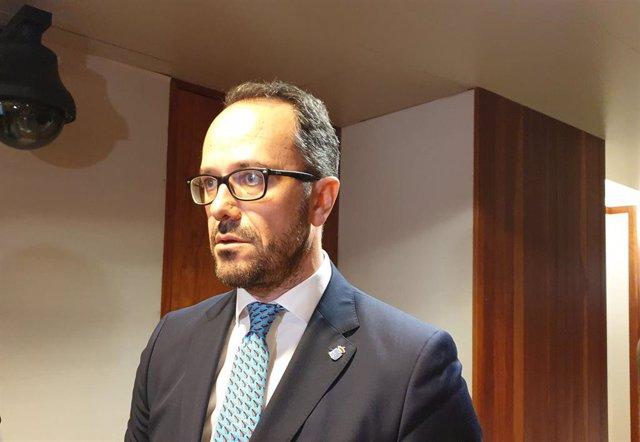 El diputado de Vox en la Junta General, Ignacio Blanco