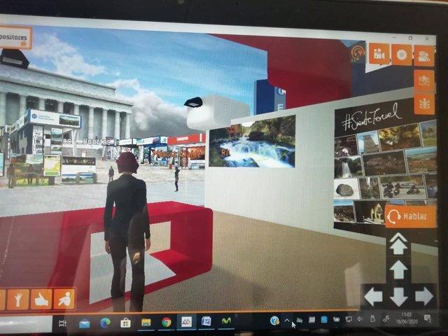 Stand de Teruel en la feria virtual 'On viaje'