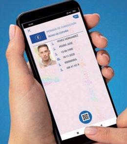 Aplicación móvil 'MiDGT' de la DGT