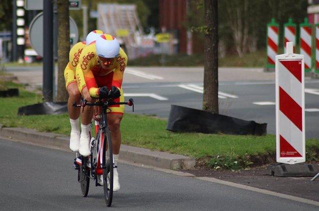Ricardo Ten y Eduardo Santas en el Mundial de ciclismo adaptado