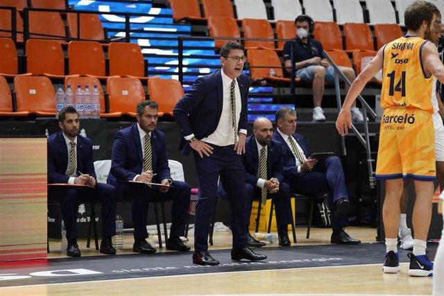 El entrenador del Herbalife Gran Canaria, Fotis Katsikaris
