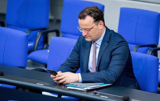 El ministre de Sanitat alemany, Jens Spahn, en el Bundestag