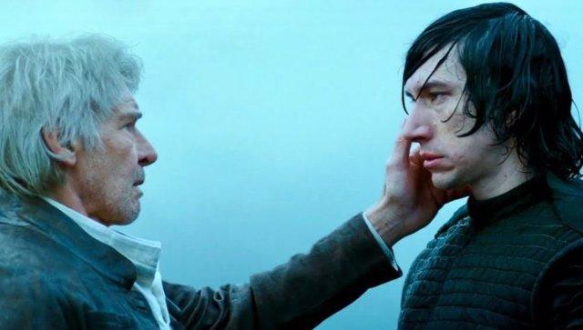 Harrison Ford y Adam Driver en Star Wars: El ascenso de Skywalker